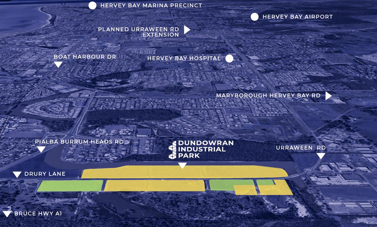 Dundowran Industrial Park Proximity to Hervey Bay